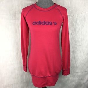 Adidas Hot Pink Sweatshirt Dress